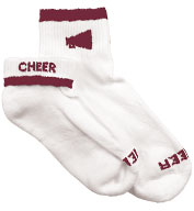 Custom Womens Megaphone Cheerleader Socks