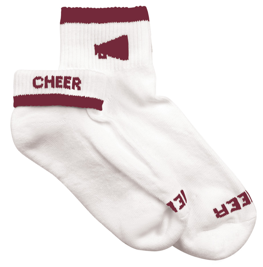 Teamwork Womens Megaphone Cheerleader Socks - CLOSEOUT