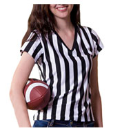 Custom Juniors V Neck Fashion Referee Shirt