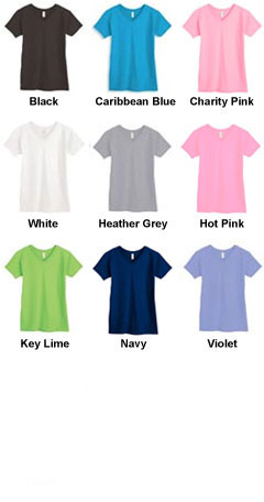 100% Heavyweight Ladies V-Neck Tee - All Colors