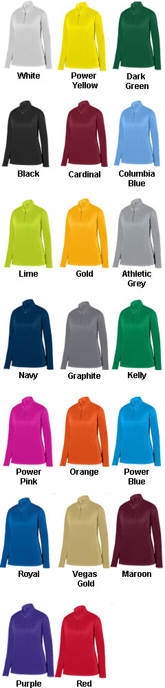 Ladies Wicking Fleece Pullover - All Colors
