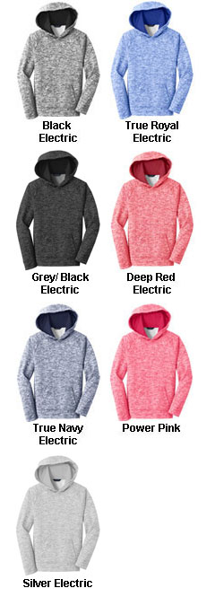 Youth Sport-Tek PosiCharge Electric Heather Fleece Hooded Pullover - All Colors
