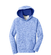 Custom Sport-Tek® Youth PosiCharge® Electric Heather Fleece Hooded Pullover