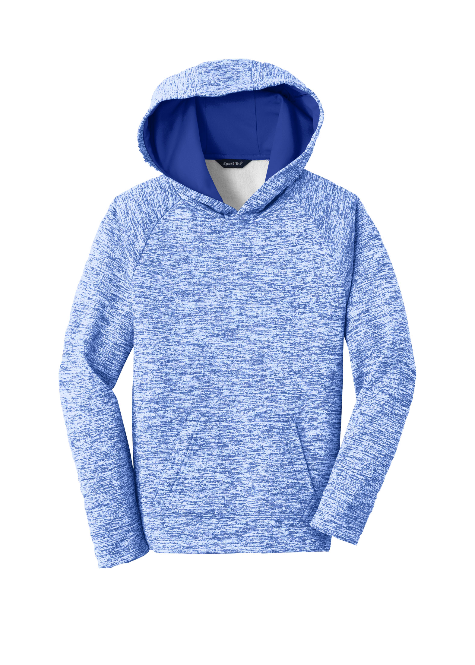 Youth Sport-Tek PosiCharge Electric Heather Fleece Hooded Pullover