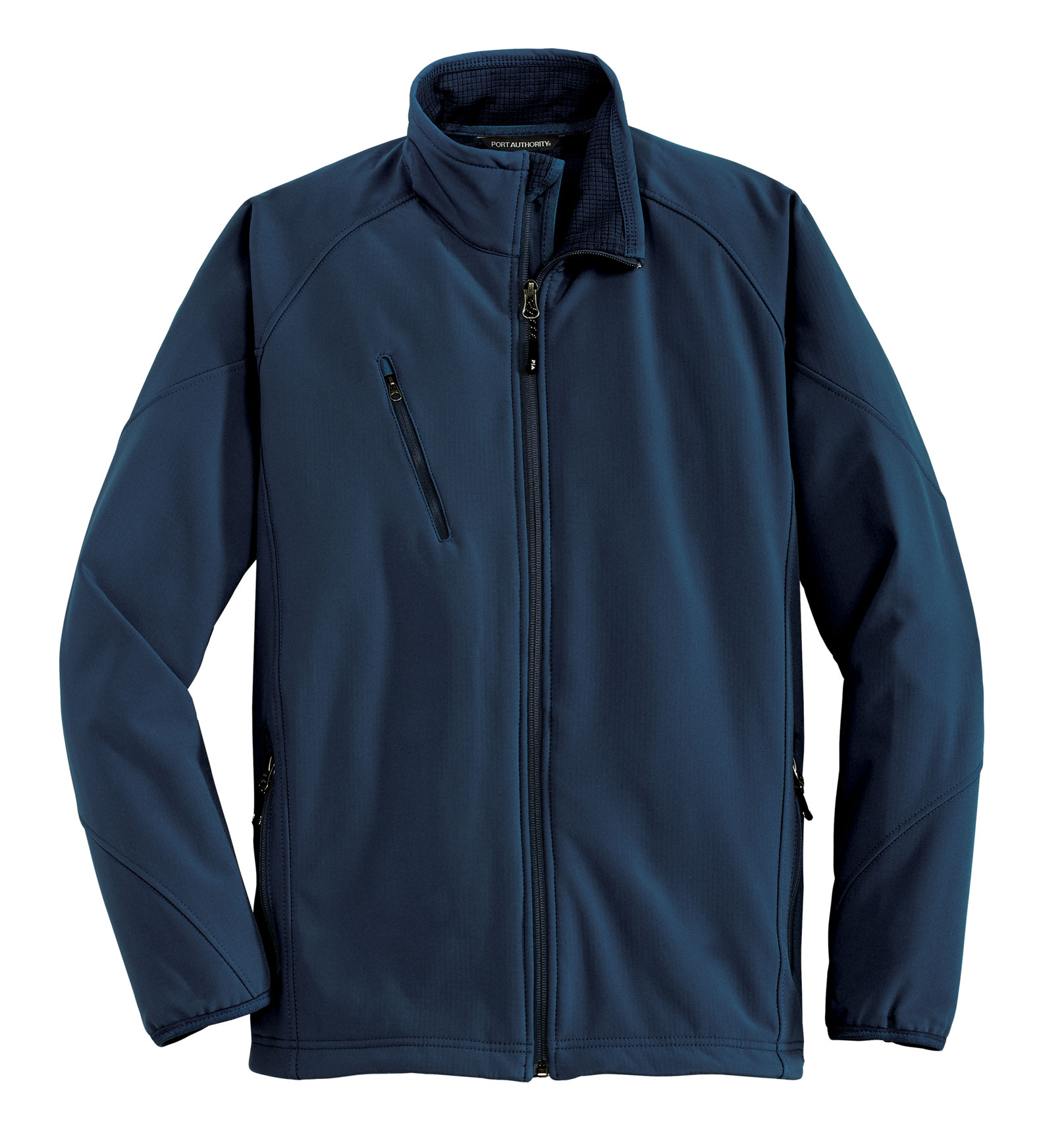 Port Authority Mens Textured Soft Shell Jacket
