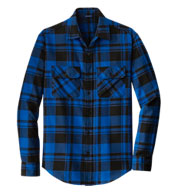 Custom Port Authority® Mens Plaid Flannel Shirt