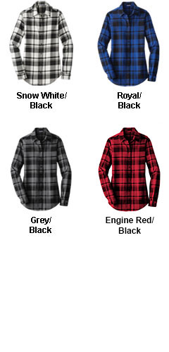 Ladies Plaid Flannel Tunic - All Colors