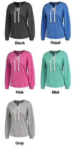 Womens Lace-Up Crew Sweatshirt - All Colors
