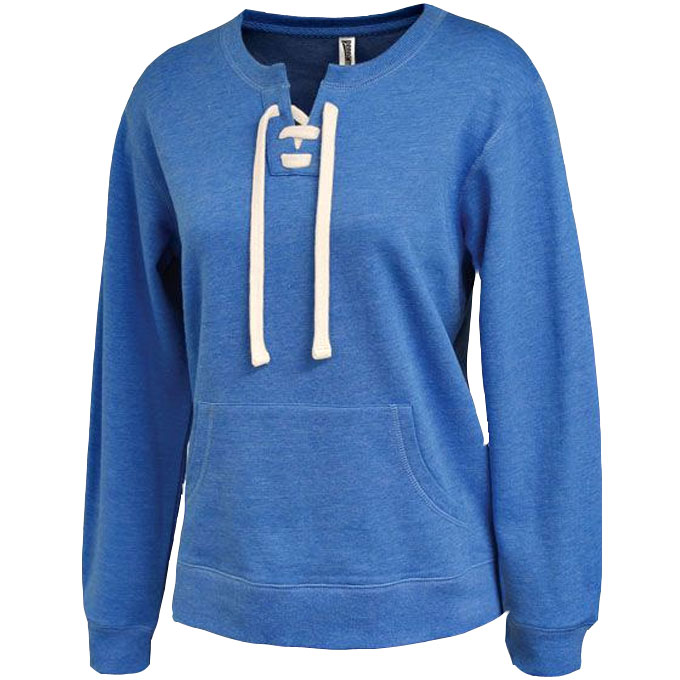 Womens Lace-Up Crew Sweatshirt