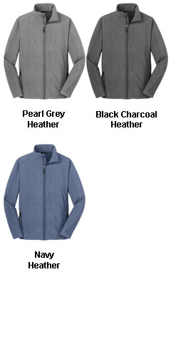 Mens Heather Core Soft Shell Jacket - All Colors