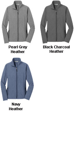 Ladies Heather Core Soft Shell Jacket - All Colors