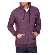 Custom Next Level Adult Denim Fleece Full-Zip Hoody