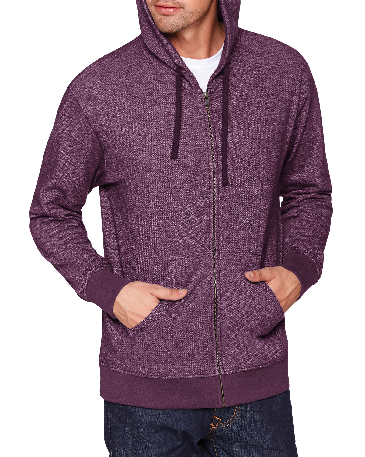 Next Level Adult Denim Fleece Full-Zip Hoody