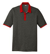 Custom Sport-Tek® Mens Heather Contender™ Contrast Polo