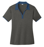Custom Sport-Tek® Ladies Heather Contender™ Contrast Polo