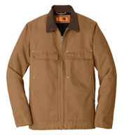 Custom CornerStone® Mens Washed Duck Cloth Chore Coat