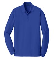 Custom Port Authority® Mens EZCotton™ Long Sleeve Polo