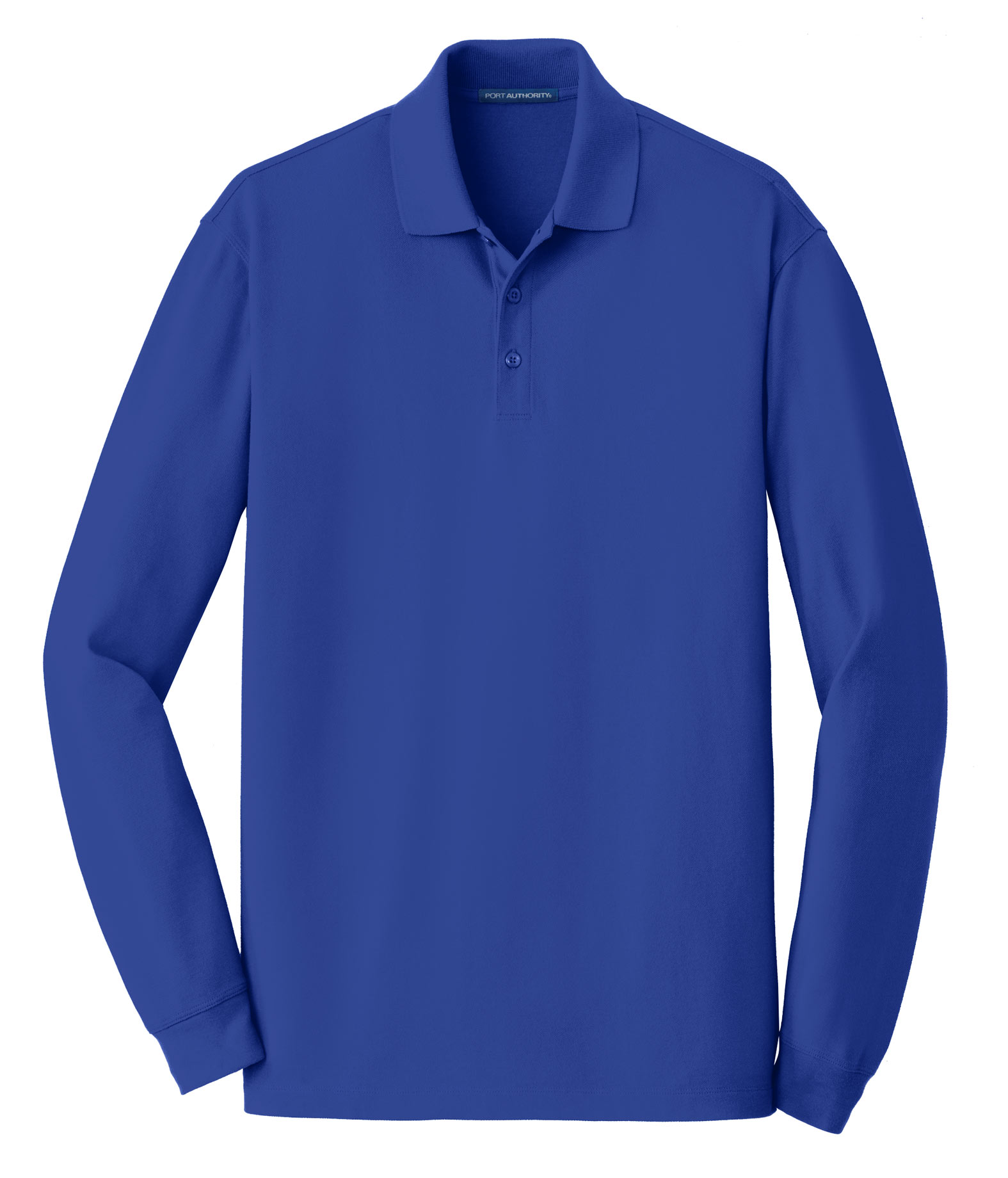 Port Authority® Mens EZCotton™ Long Sleeve Polo