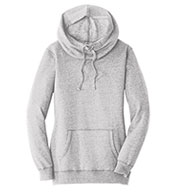 Custom District® Womens Lightweight Fleece Hoodie