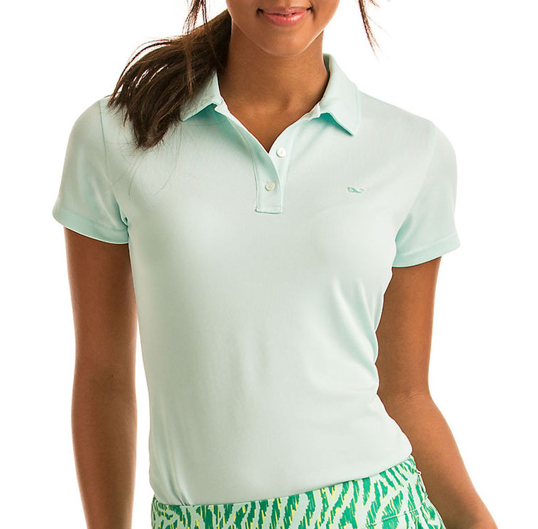 Vineyard Vines Womens Grace Solid Pique Polo