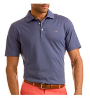 Custom Vineyard Vines Mens Tempo Solid Pique Polo