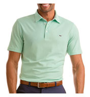 Custom Vineyard Vines Mens Dormie Sold Oxford Pique Polo
