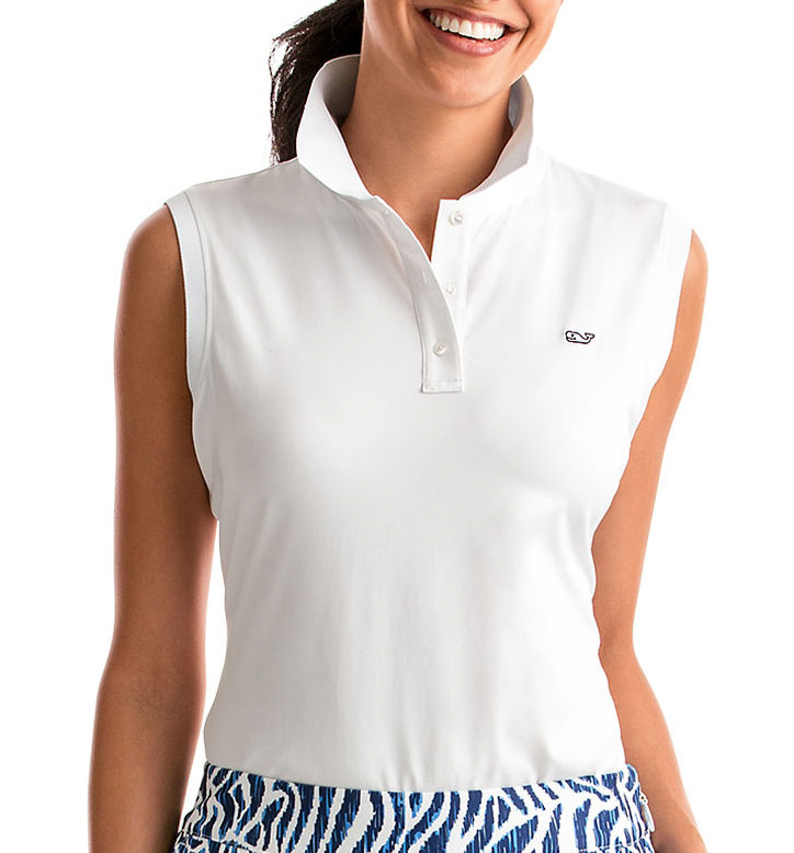 Vineyard Vines Womens Renee Sleeveless Polo