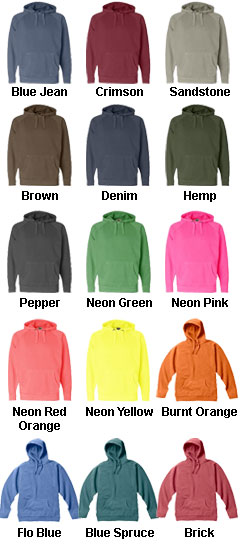 Pigment Dyed Pullover Hooded Sweat - All Colors