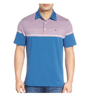 Custom Vineyard Vines Mens Shaw Stripe Polo