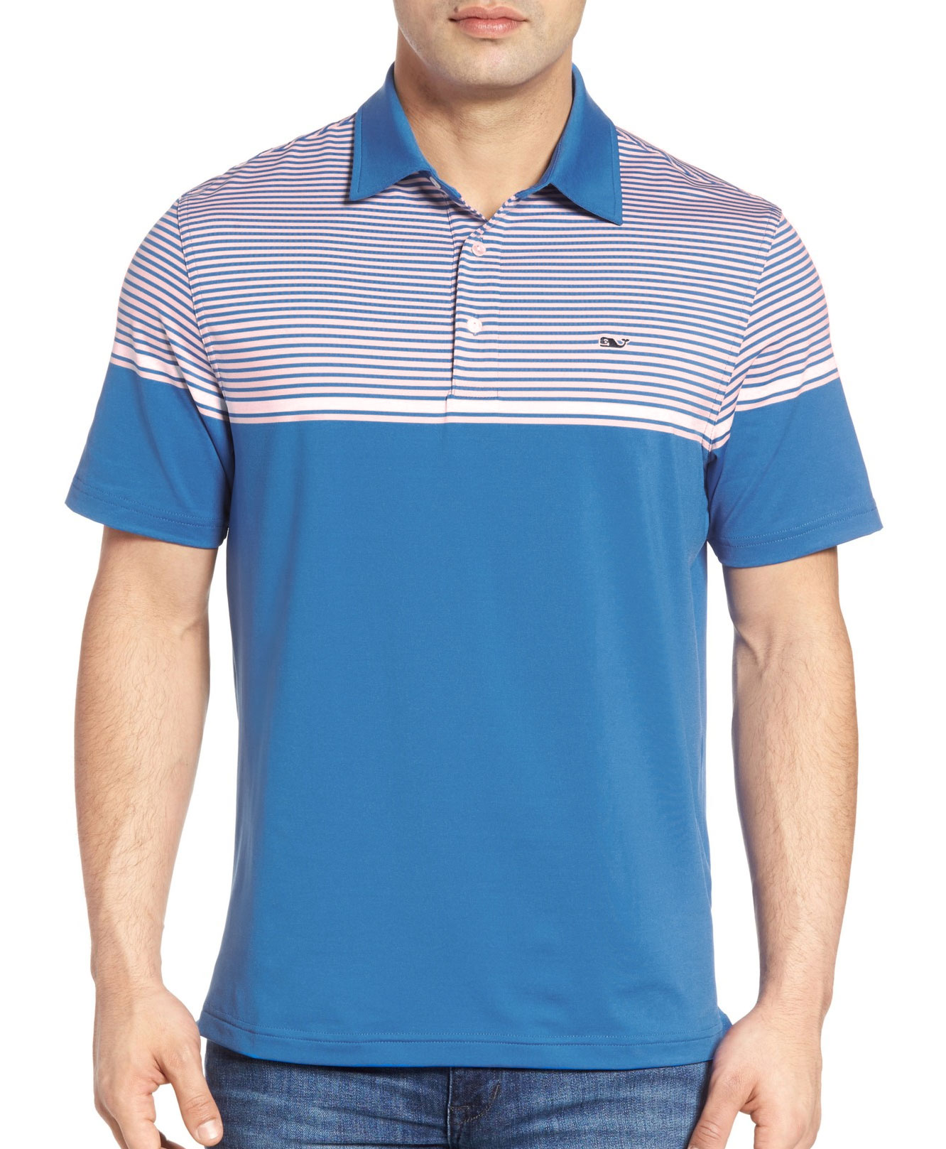 Vineyard Vines Mens Shaw Stripe Polo
