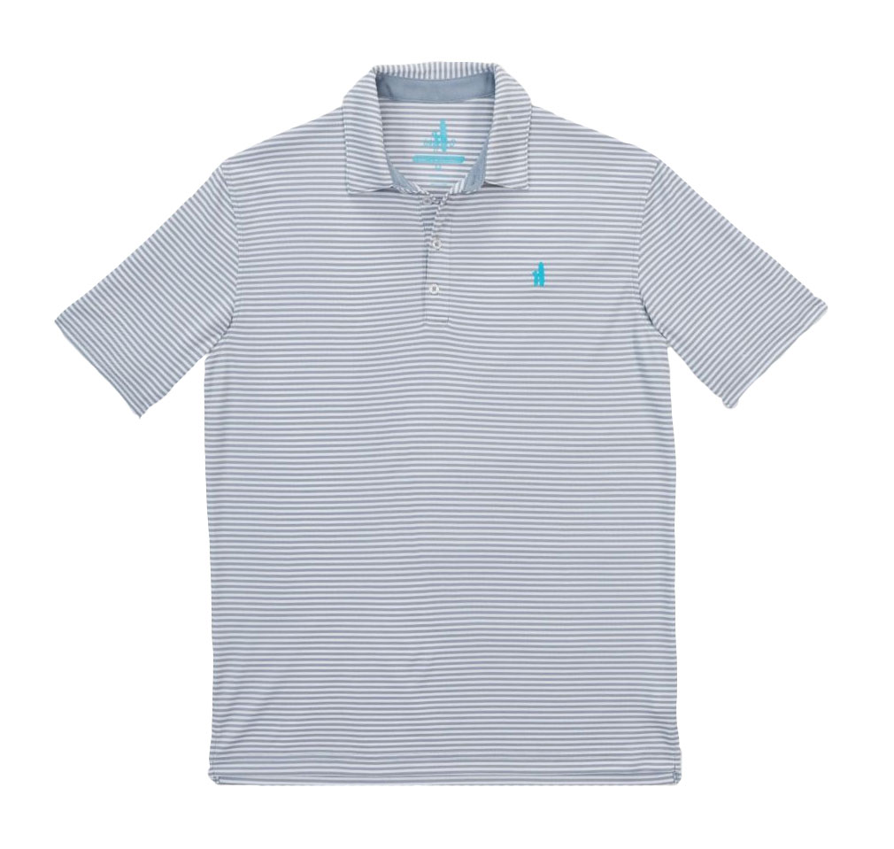 Johnnie-O Mens Bunker Striped Polo