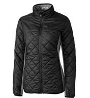 Custom Cutter & Buck Ladies Sandpoint Quilted Jacket