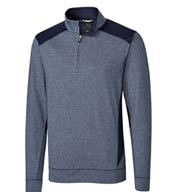 Custom Mens Shoreline Color Block 1/4 Zip
