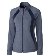 Custom Cutter & Buck Ladies Shoreline Colorblock Full Zip