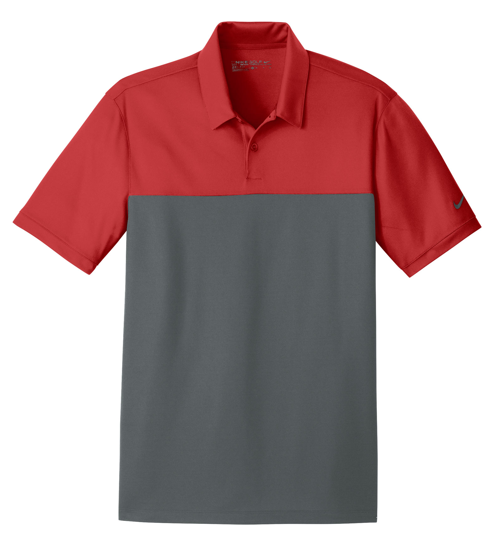 Nike Golf Dri-FIT Mens Colorblock Micro Pique Polo