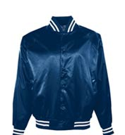 Custom Youth Satin Baseball Jacket/Striped Trim