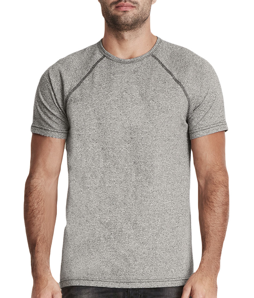 Next Level Mens Mock Twist Raglan T-Shirt