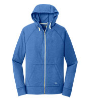 Custom New Era® Mens Sueded Cotton Full-Zip Hoodie