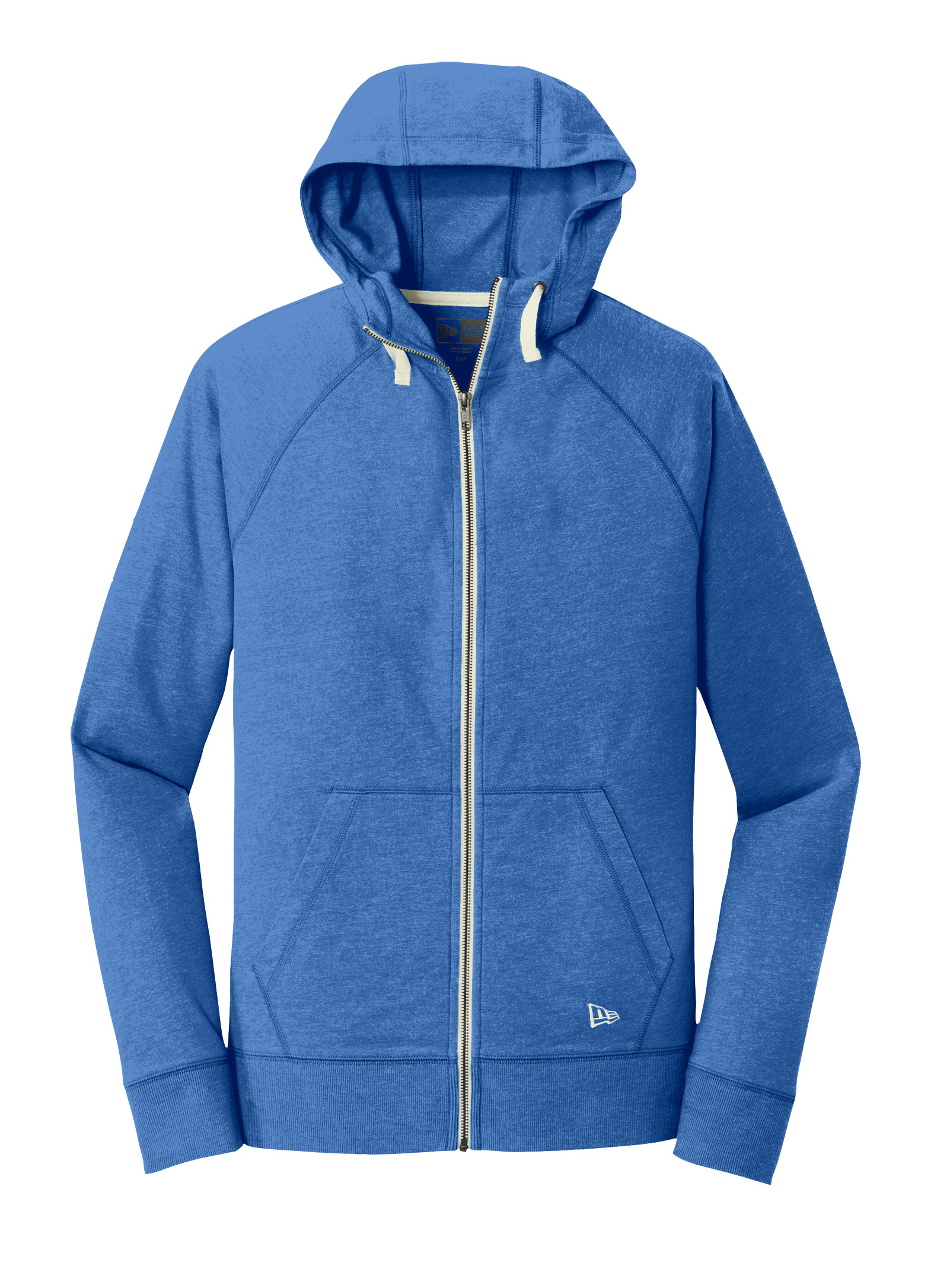 New Era Sueded Men Cotton Full-Zip Hoodie