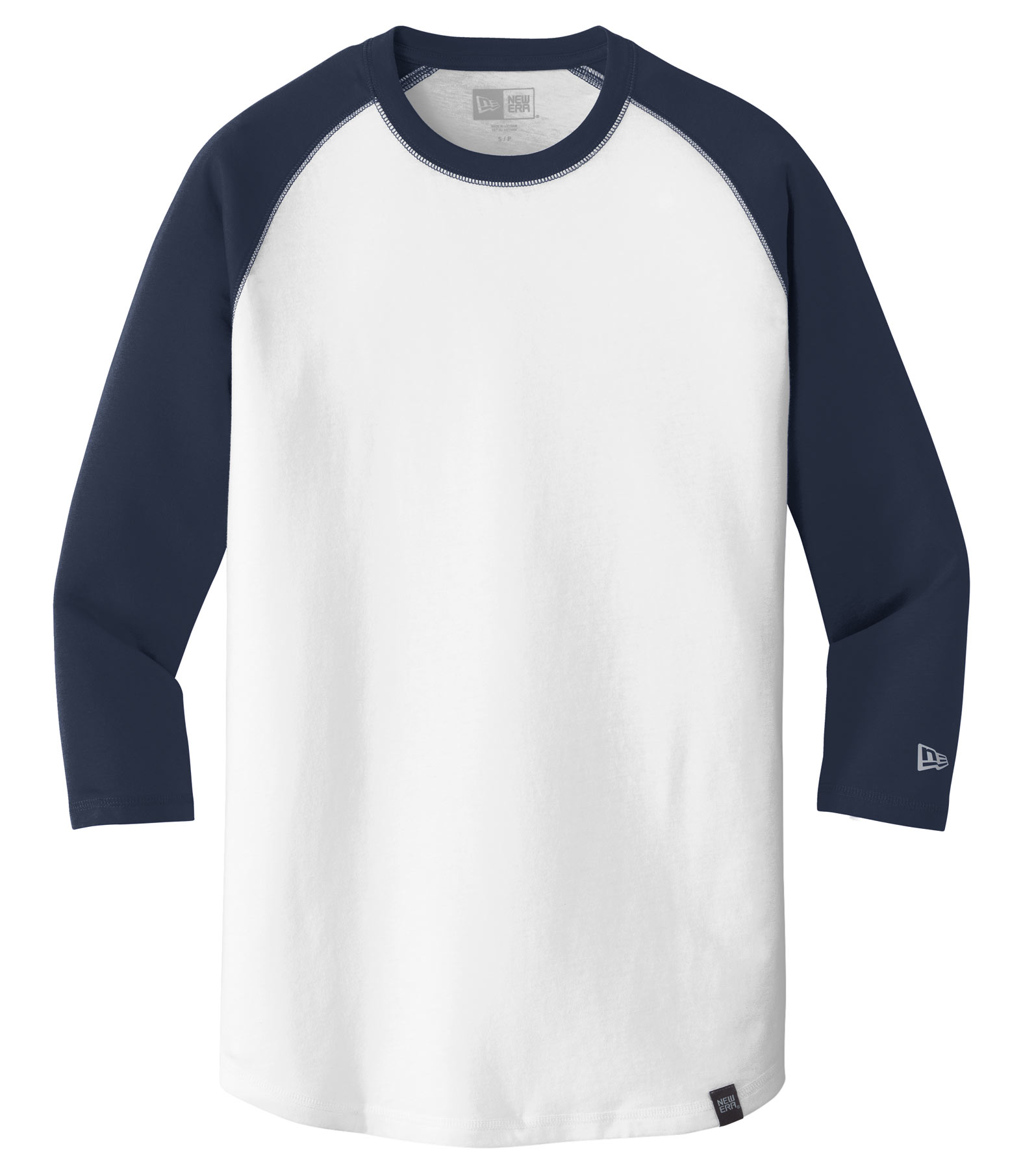 8b2e6769410 Custom New Era® Mens Heritage Blend 3 4 Sleeve Baseball Raglan Tee