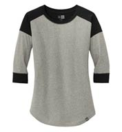 Custom New Era® Ladies Heritage Blend 3/4 Sleeve Baseball Raglan Tee
