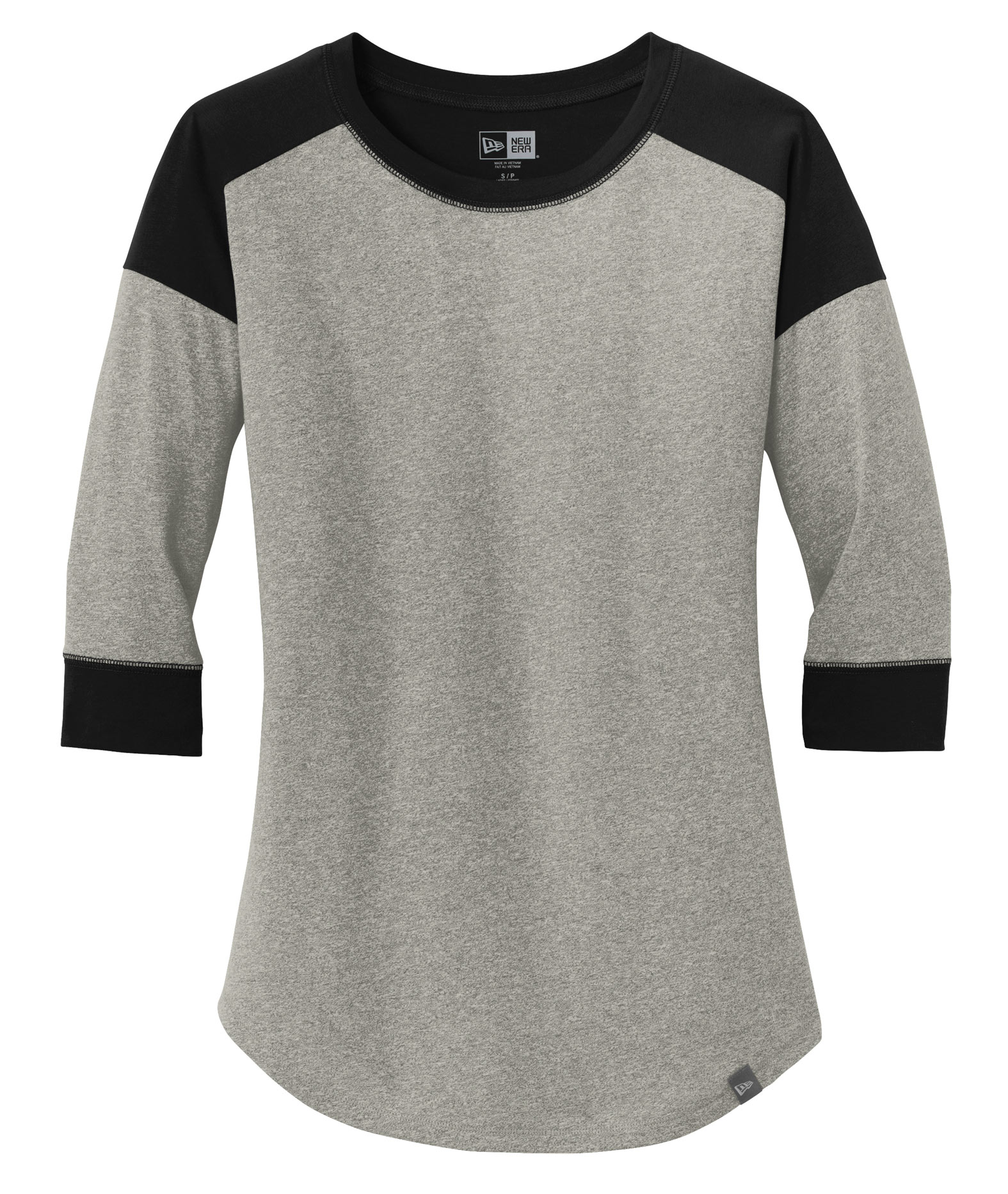 Custom New Era® Ladies Heritage Blend 3 4 Sleeve Baseball Raglan Tee c0c9a80b6