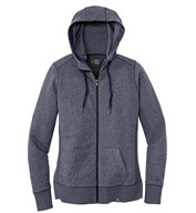 Custom New Era® Ladies French Terry Full-Zip Hoodie