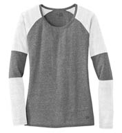 Custom New Era® Ladies Tri-Blend Performance Baseball Tee