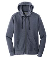Custom New Era® Mens Tri-Blend Fleece Full-Zip Hoodie