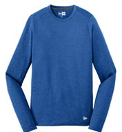 Custom New Era Mens Series Performance Long Sleeve Crew Tee