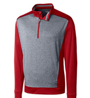 Custom Cutter & Buck Mens Big and Tall Replay Half Zip Pullover