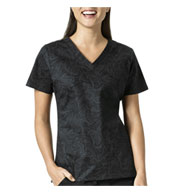 Custom Sketch Scroll Black V-Neck Print Top by Vera Bradley