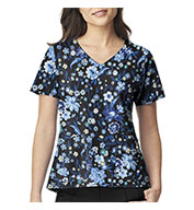 Custom Midnight Floral V-Neck Print Top by Vera Bradley