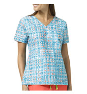 Custom Abstract Blocks Ladies V-Neck Print Top By Vera Bradley